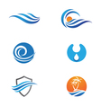Water Wave Icon Logo Template vector image vector image