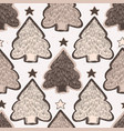 winter rustic christmas tree lino cut texture vector image