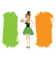 with leprechaun vector image vector image