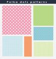 Beautiful polka dots patterns vector image