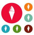 ice cream icons circle set vector image