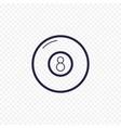 pool eight ball line icon billiard game thin vector image