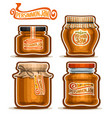 persimmon jam in jars vector image