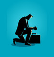 a businessman praying vector image vector image