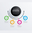abstract 4 circle infographics number options vector image vector image