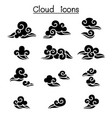 abstract cloud chinese cloud curl cloud vector image vector image