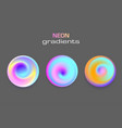 abstract sphere neon colors gradients isolated vector image vector image
