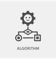 algorithm icon for graphic vector image vector image