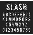Alphabet font slash vector image vector image