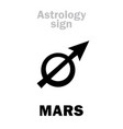 astrology planet mars vector image vector image