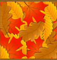 autumn leaves background of the fallen leaves of vector image