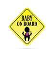 baby on board secure vector image vector image