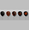 black air balloons for halloween design isolated vector image