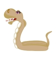 Cartoon snake on white vector image