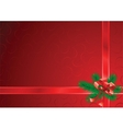 Christmas background red vector image