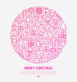 christmas celebration concept in circle vector image vector image
