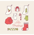 Christmas holiday decoration icons collection