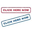 Click Here Now Rubber Stamps vector image vector image