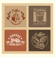 coffee shop vintage banners template collection vector image