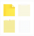 collection of note papers vector image vector image