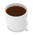 cup of coffee icon set isometric style vector image vector image