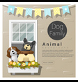 Cute animal family background with Dogs 5 vector image