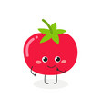 cute cartoon tomato vector image