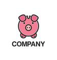 cute pig mascot logo vector image vector image