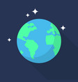earth icon set of great flat icons with style vector image