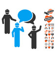 engineer persons forum icon with lovely bonus vector image vector image