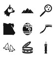 favorite icons set simple style vector image