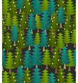 forest seamless pattern Fir forest Christmas vector image vector image