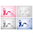 Four banners with different cancer awareness vector image vector image