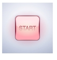 Glossy Glass START Button vector image