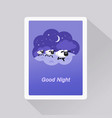 good night card with sheep in a dream bubble vector image vector image