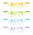 Happy Easter text lettering Holiday modern flat vector image