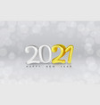 happy new 2021 year holiday cover festive vector image vector image