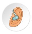 Hearing aid icon cartoon style vector image