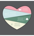 Infographic Heart Templates for Business vector image