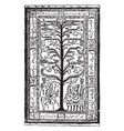 kerman rug is a representing tree of life and the vector image vector image