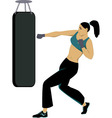 Kickboxing training vector image vector image