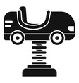 kid car spring icon simple style vector image