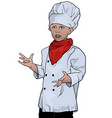 little chef presenting vector image vector image
