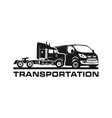 logo design container trucks and vans vector image vector image