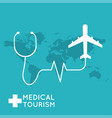 medical tourism flat design modern vector image