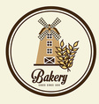 mill bakery design vector image vector image