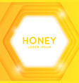 modern poster for sale cosmetics based on honey vector image