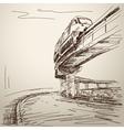 monorail train vector image