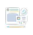 office work object attributes icons vector image vector image