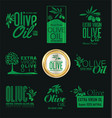 olive oil retro vintage labels collection vector image vector image